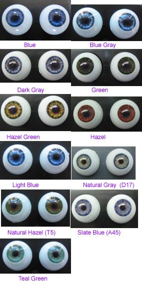 10mm Grey Glastic Realistic Acrylic Doll Eyes